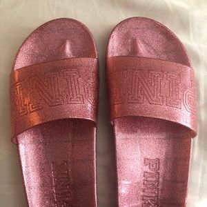 VS PINK slides - never worn